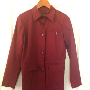 Kenneth Cole red trench coat size xs